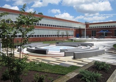 Paducah Tilghman High School Courtyard